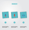 set of monument icons flat style symbols with vector image