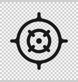 shooting target icon in transparent style aim vector image