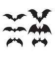 silhouette of bat with big wings vector image vector image