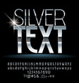 silver text vector image vector image