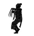 simple silhouette and hand draw sketch young girl vector image vector image
