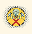 the symbol of light and hammers home repairs vector image vector image
