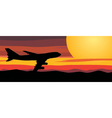 travel by airplane vector image vector image