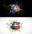usa flag with soccer ball dash on colorful vector image vector image