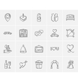 Wedding sketch icon set vector image vector image