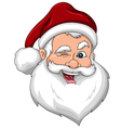 Winking Santa Claus Face Side View vector image vector image