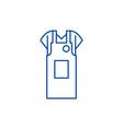 work apron line icon concept work apron flat vector image