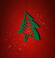 Happy New Year Card Cristmas tree vector image