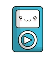 media player portable isolated icon vector image