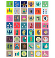 Icons flat set conference Design elements for vector image