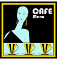 Art Deco Cafe Menu Template vector image