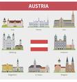 Austria set vector image vector image