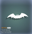 bat icon symbol on the blue-green abstract vector image
