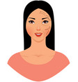 beautiful asian woman with marks drawn on her vector image vector image