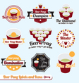 Beer Pong Labels vector image