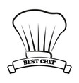 best chef icon of cook hat vector image vector image