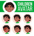 black afro american boy avatar set kid vector image vector image