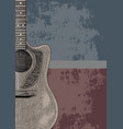 book cover and background of acoustic guitar hand vector image
