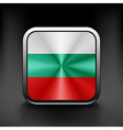 Bulgaria flag waving form on gray background vector image