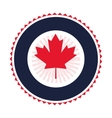 canadian badge icon vector image vector image