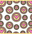 casino chips with heart pattern background vector image vector image