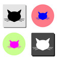 cat head flat icon vector image