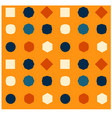 changing shapes seamless pattern vector image
