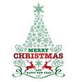christmas badge vector image vector image