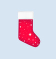 christmas sock with snowflakes festive realistic vector image