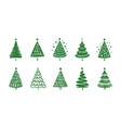 christmas tree symbol holiday concept vector image vector image