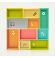 Colorful Shelves for Design vector image vector image