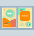 colourful annual report vector image