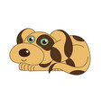 cute funny doggy smiling vector image vector image