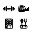 diet and fitness simple related icons vector image