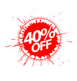 discount with price is 40 vector image vector image