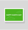 earth day greeting card minimalist style vector image vector image