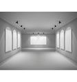 Gallery Interior Realistic vector image vector image