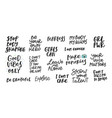 girl power body shaming enough quote lettering vector image