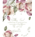 greeting card with watercolor flowers background vector image vector image