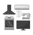 Group of home appliances set vector image vector image