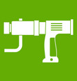 hand drill icon green vector image vector image