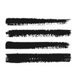hand painted ink brush strokes vector image vector image