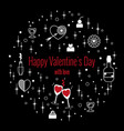 happy valentines day greeting card in circle vector image vector image