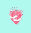 hugging hearts instead love sweet heart vector image vector image