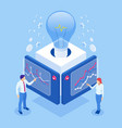 isometric concept idea business meeting and vector image vector image