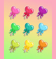 lollipop with bow colorful icons set vector image vector image