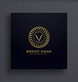 luxury letter v logo concept design in golden vector image vector image