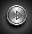 metallic bluetooth icon vector image