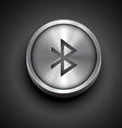 metallic bluetooth icon vector image vector image