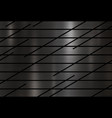 modern black metal texture background vector image vector image